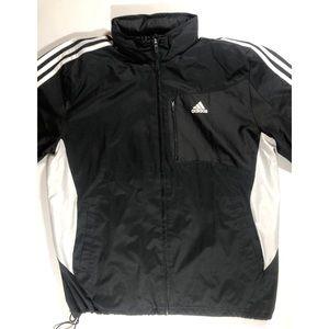 Adidas windbreaker rain jacket size large.